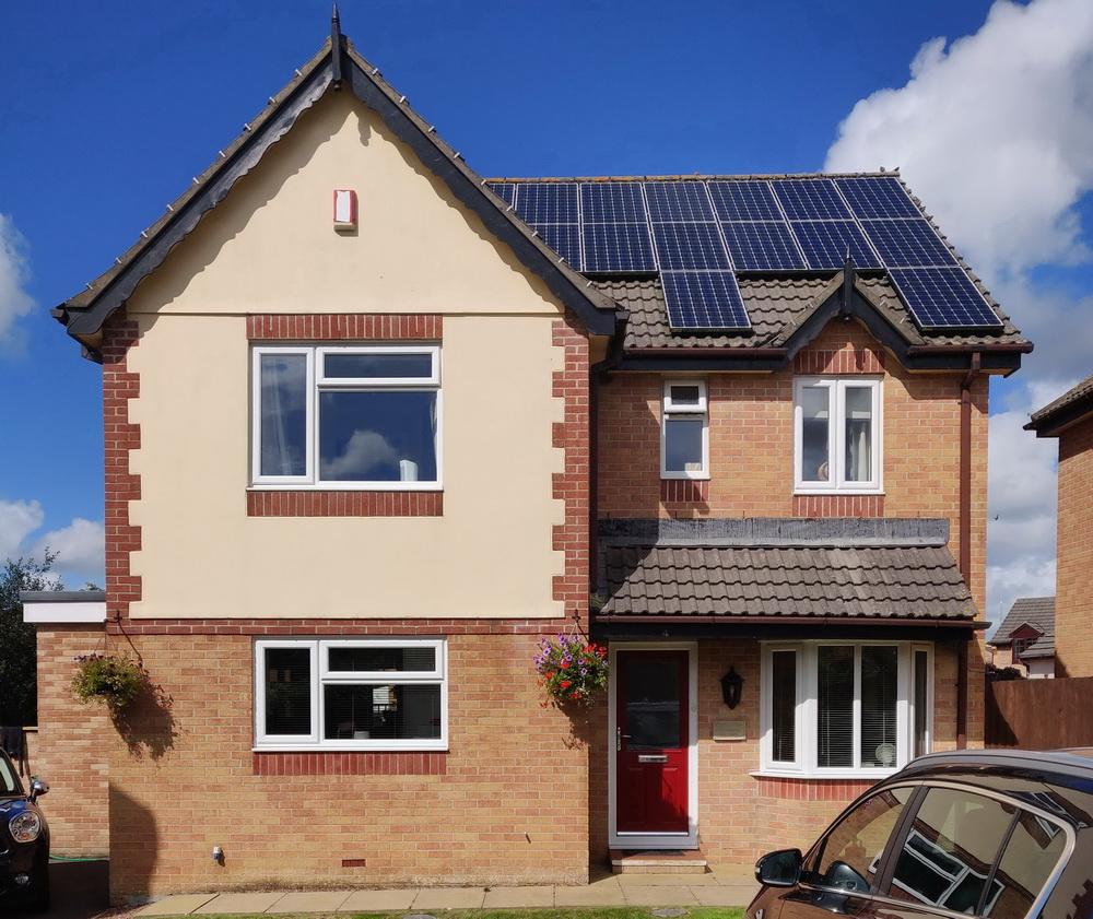 domestic house solar panels